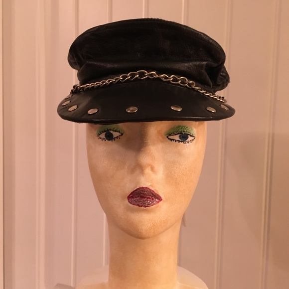 SEXY Women s Leather Bikers hat Sz med SASSY NWT 85d808d2bd8